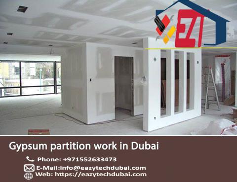 gypsum partition contractors Dubai